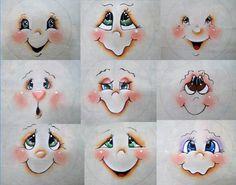 como pintar olhos de bonecas