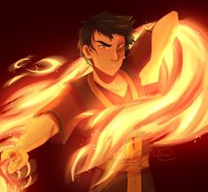 By cassecorrea on Tumblr Years Passed, A Hundred Years, Fire Nation, Zuko, Aang, Avatar The Last Airbender, Fan Art, Anime, Red Fox