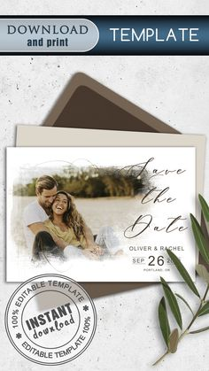 This personalized postcard has a beautiful minimalistic classic design and includes a PSD file to easily insert your photo and edit text. The reverse side of the postcard is clean. The template is intended for editing and further printing of this file at home, online printer, or local printing house… #save_the_date_cards #templates_save_the_date #cards_for_wedding #save_the_date_cards_rustic #vintage_save_the_date_cards #modern_save_the_date_cards #handmade_save_the_date_cards
