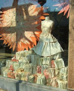 Anthropologie Display Window - Paper Art - Birmingham, Michigan