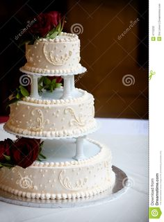 Wedding Cake With Three Tiers - Download From Over 30 Million High Quality Stock Photos, Images, Vectors. Sign up for FREE today. Image: 4715232
