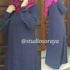 @studiosoraya #elbise New Long Dress, Islamic Fashion, Hijab Styles, Abayas, Hijab Fashion, Sweaters, How To Wear, Dresses, Womens Fashion
