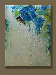 Original Abstract Painting- Imaginations- Modern, Contemporary, 18x24 Palette Knife