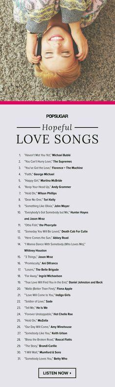 Hopeful love song playlist