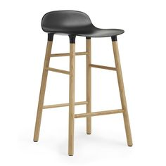 Normann Copenhagen - Form Barstool - Oak - Black