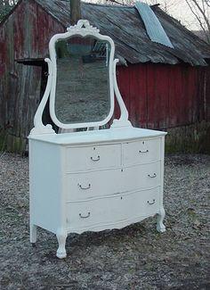 white victorian dresser