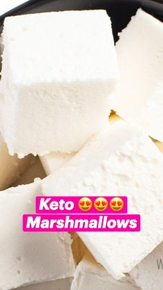 Low Carb Desserts, Low Carb Recipes, Real Food Recipes, Snack Recipes, Dessert Recipes, Make Simple Syrup, Comida Keto, Keto Candy, Recipes With Marshmallows