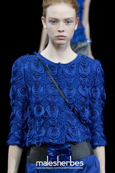 maison-malesherbes:  [ Fashion ] Emporio Armani SS2015 Please follow us on our FACKBOOK page, if you interested and also to know more about us and crochet, knitting, arts, fashion, movies and more… https://www.facebook.com/maisonmalesherbes/