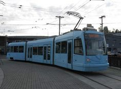 Battery tram delivered to Seattle, Washington from the Czech Republic.
