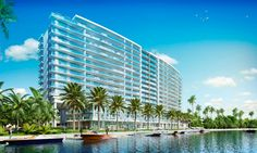RIVA is a 15-story riverfront tower with views of the Ft. Lauderdale downtown skyline and ocean beaches. The 2-acre site on the Middle River is across from a 20-acre park and tennis center, just north of Sunrise Boulevard and Galleria Mall, one mile from the beach.