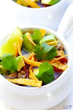 Skinny Slow Cooker Taco Soup | gimmesomeoven.com