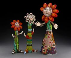 Betsy Youngquist anthropomorphic art mosaic beads broken doll parts Betsy Rockford IL Seed Bead Art, Seed Beads, Broken Doll, Beaded Animals, Doll Parts, Whimsical Art, Mosaic Art, Bead Weaving, Sculpture