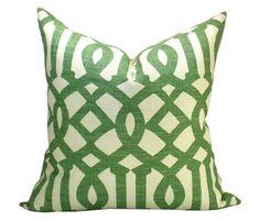 Schumacher Imperial Trellis pillow cover in Treillage