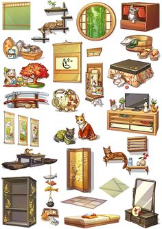 Party In My Dorm • View topic - Autumn Springs Furniture Box, Dibujos Cute, Prop Design, Character Design, Character Art, Environment Concept Art, Aesthetic Art, Cute Drawings, Cute Art