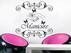 Wall Decal Manicure Vinyl Sticker Decals Beauty by StylewithDecals