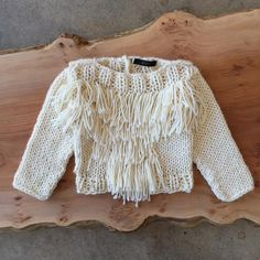 Beautiful Kkibo fringe baby sweater at General Store Venice