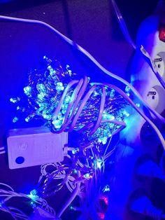 LED vánoční řetěz se 100 LED 10 m - modrý - Luminer
