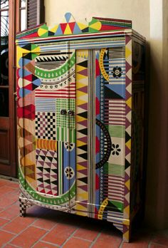 Lucas Risé - African Whimsical.  I love this!!!  Would love to have a funky, colorful piece of furniture like this.