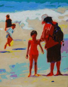 "Saatchi Art Artist Bertram Poole; Painting, ""Summer Beach Play - Bertram Poole Painting"" #art"