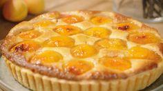 Abrikozentaart | Dagelijkse kost Dutch Recipes, Sweet Recipes, Cookie Recipes, Dessert Recipes, Flan Cake, Belgian Food, Sweet Bakery, Sweet Pie, Bread Cake