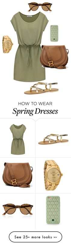 """Untitled #120"" by audreyfultz18 on Polyvore featuring Dorothy Perkins, Chloé, Ray-Ban, Rolex and Tory Burch"