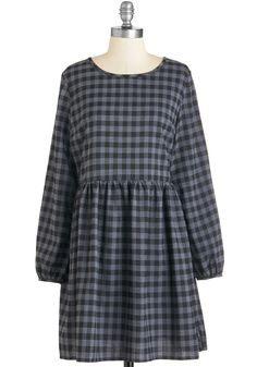 If it Ain't Got that Gingham Dress. Give that rhythm everything you've got in this delightful gingham-print frock. #grey #modcloth