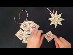 ▶ (Daily December Day 1) DIY Paper Star Ornament - Teabag Folding - YouTube - This would make a great spring decoration!