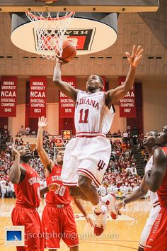 Yogi Ferrell at Indiana's 90-74 win over Stony Brook at Assembly Hall.  #IUCollegeBasketball