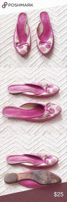 Coach | Polka Dot Flats Coach polka dot flats in a pretty pink/purple. Size 6. In good condition, but have some wear. Offers are welcome and don't forget to bundle for 20% off, Happy Poshing! Coach Shoes Flats & Loafers