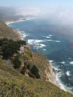 Highway 1 CA with fog
