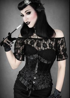 gothfinds:    Black underbust corset with ruffles by Restyle; $44.  Available at www.restyle.pl