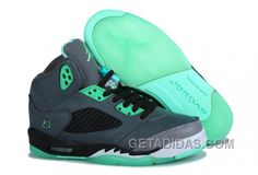 303744f7a925 Air Jordan 5 Dark Grey Green Glow Super Deals