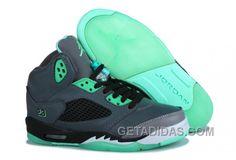 http://www.getadidas.com/air-jordan-5-dark-grey-green-glow-super-deals.html AIR JORDAN 5 DARK GREY GREEN GLOW SUPER DEALS Only $75.00 , Free Shipping!