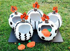 Pumpkin Toss Game for pumpkin theme birthday party