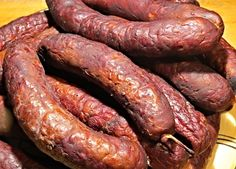 Chalupářská klobása Sausage Seasoning, Czech Recipes, Snack Recipes, Snacks, Pork Tenderloin Recipes, Smoking Meat, Food 52, Food And Drink, Homemade