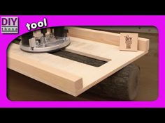 Planfräsen mit der Oberfräse - YouTube Diy Tools, Planer, German, Woodworking, Diy Crafts, Home Decor, Tools, Wood, Projects To Try