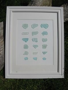 beautiful seaglass framed want to do this
