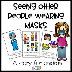We are seeing more people wearing masks in stores and public places. Even as an adult, it felt kind of strange and startling to see people wearing masks. I'm SURE that our kids are feeling the same… Preschool Classroom, Preschool Learning, Preschool Activities, Kindergarten, Infant Classroom, Listening Activities, Montessori Elementary, Therapy Activities, Classroom Ideas
