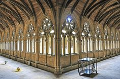The stunning cloisters of Lincoln Cathedral. Lincoln Cathedral, Cathedral Church, Gothic Buildings, Gothic Architecture, The Cloisters, Church Of England, Seaside Towns, Most Beautiful Cities, English Countryside