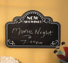 Movie Night Chalkboard - Home Decor OTC http://www.amazon.com/dp/B00DNPEMFS/ref=cm_sw_r_pi_dp_fjMOtb0VVDZ1N1F8