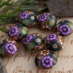SEE PHOTO STREAM FOR MORE GORGEOUS BEADS.................................................Polymer Clay Beads