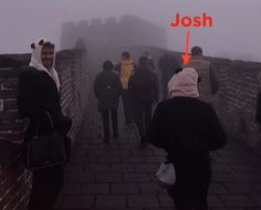 Liam Hemsworth Dressed Like A Panda And Carried Jennifer Lawrence's Purse Along The Great Wall Of China