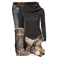 """sweater and boots"" by daisy-weber on Polyvore"
