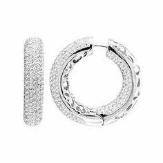Blount Jewels 6.0 Ct White Gold Classic Diamond Earrings