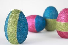 DIY Glitter Easter Eggs by Darby Smart  + Handmade Charlotte