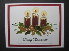 This is my first 2015 Christmas card. I cut the candles out in several colors and am paper piecing the parts to make different versions of this card. It took me all day to do this card though so I'm going to have to get faster or they will get their Christmas cards about Easter!