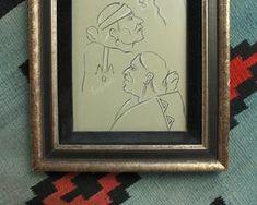 inscribed illustration by navajo artist andy tsinajinnie Toned Paper, Dry Goods, Black Velvet, Navajo, Nativity, Screen Printing, Art Decor, Native American, Black And White
