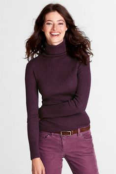 Women's Long Sleeve Merino Rib Turtleneck (one in every color!!) @S.J. Smith
