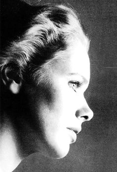 Liv Ullmann photographed by Richard Avedon for Vogue US, 1973.
