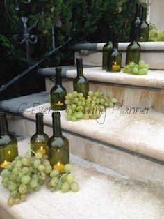 wine theme, tema vino allestimento uva vino